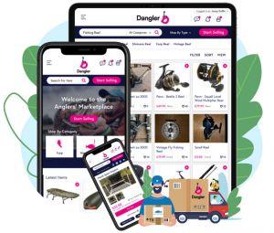 Dangler app visuals on three screen sizes