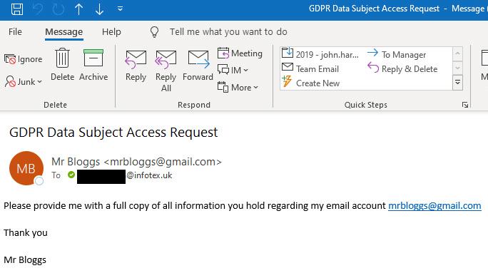 GDPR Request fake