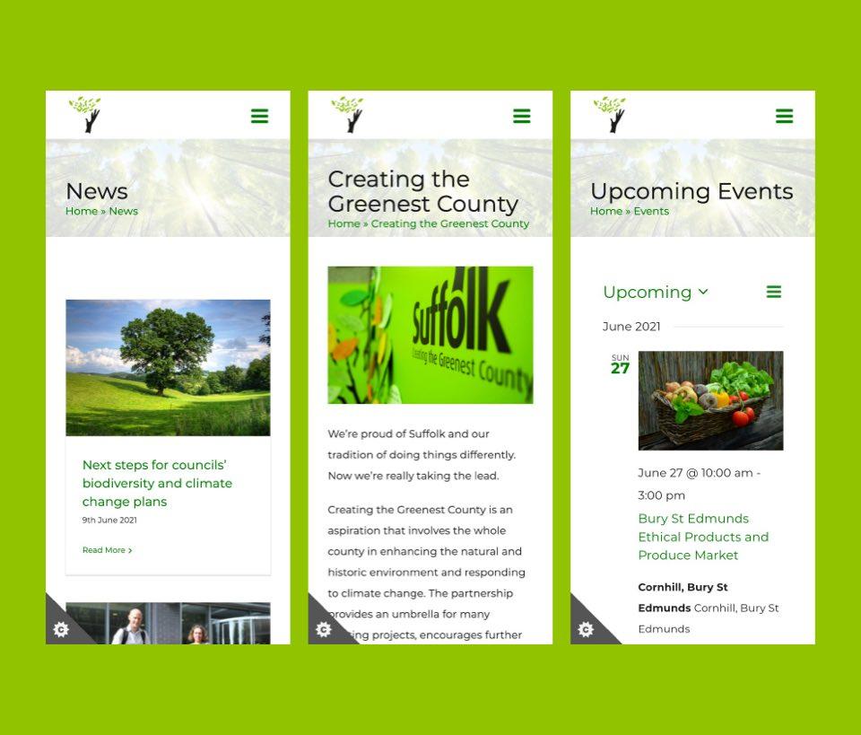 Green Suffolk Mobile Design