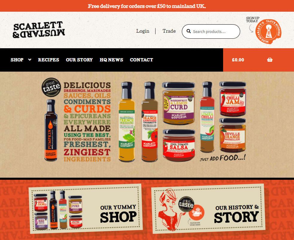 Scarlett Mustard Website