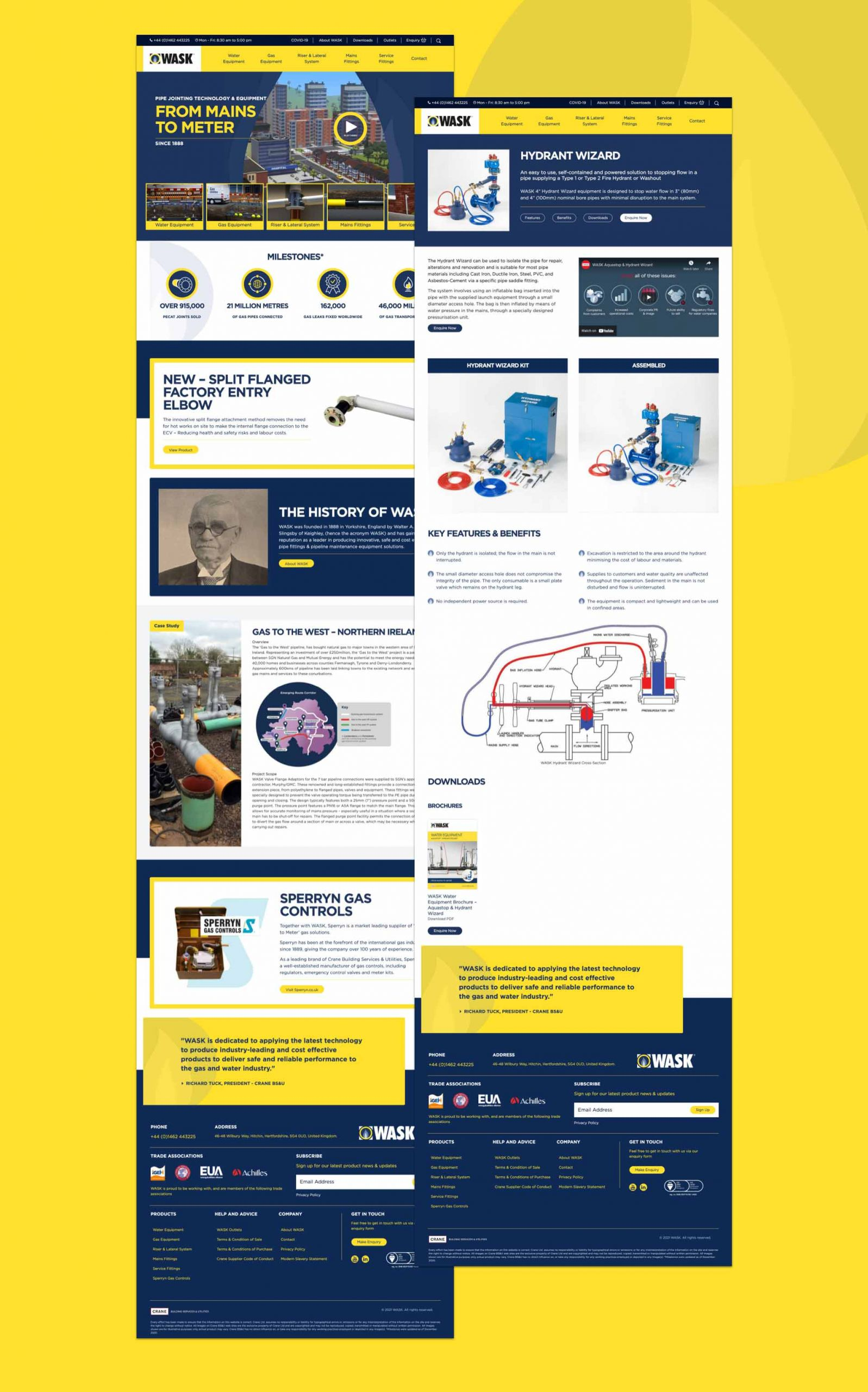 Wask Website Pages