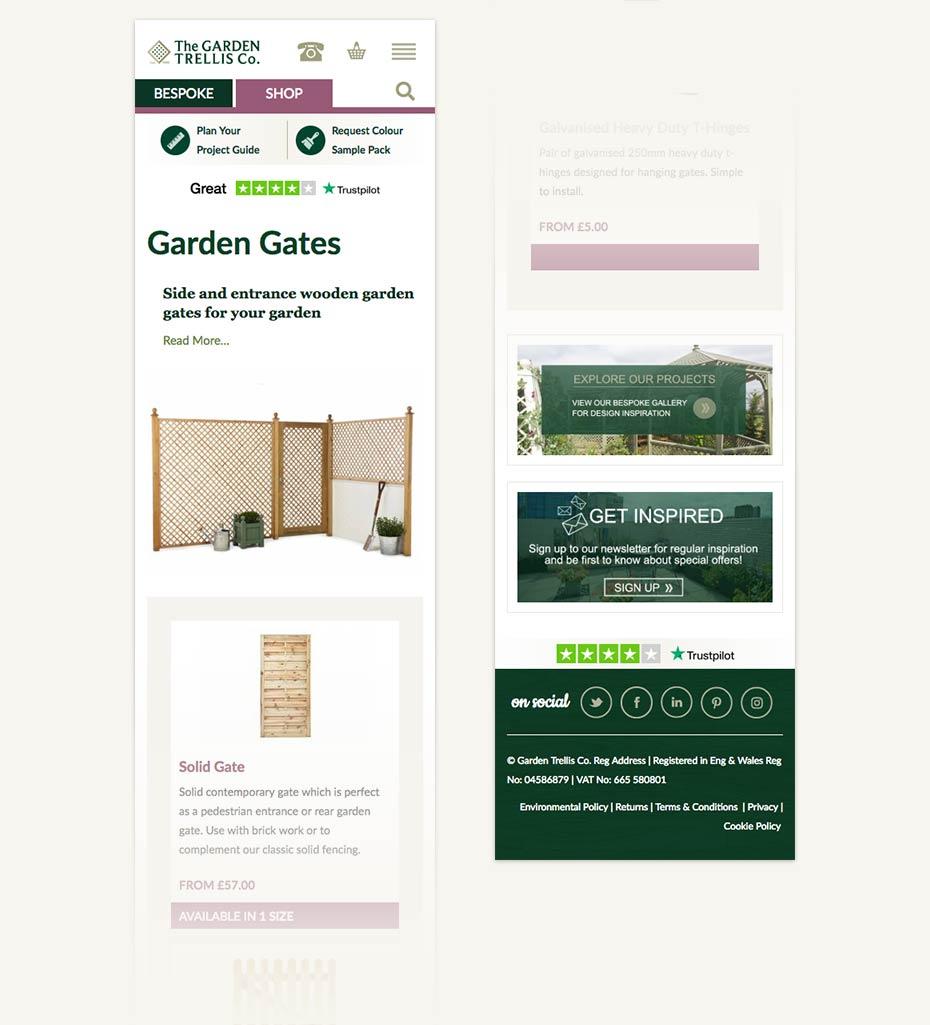 Garden Trellis Mobile Design