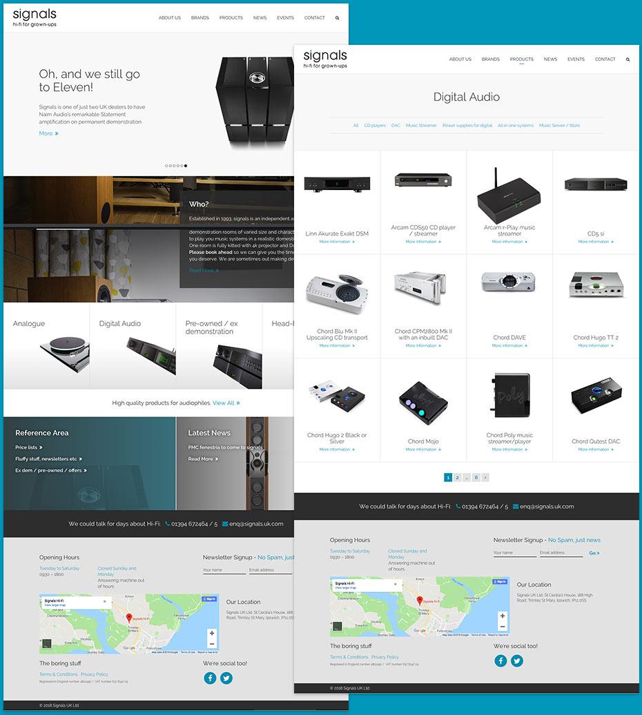 Signals Website Design